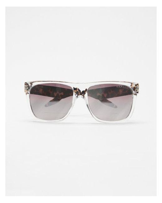 221e455bf7 Express Tortoiseshell Clear Frame Sunglasses in White for Men - Lyst