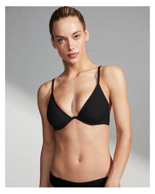 95fbaf9d2e689 Express Solid Underwire Bikini Top in Black - Lyst
