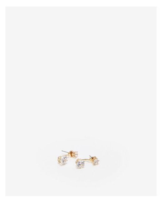 Express - Metallic Cubic Zirconia Crawler Earrings - Lyst