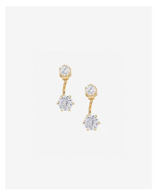 Express - Metallic Cubic Zirconia Ear Jackets - Lyst