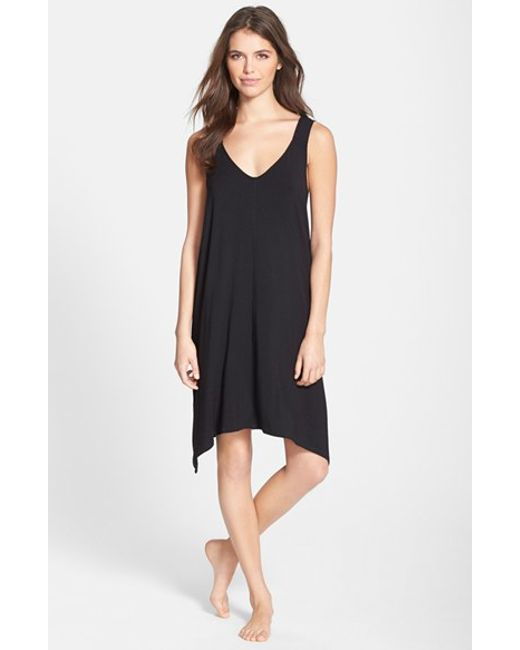 DKNY | Black 'Urban Essentials' Jersey Chemise | Lyst