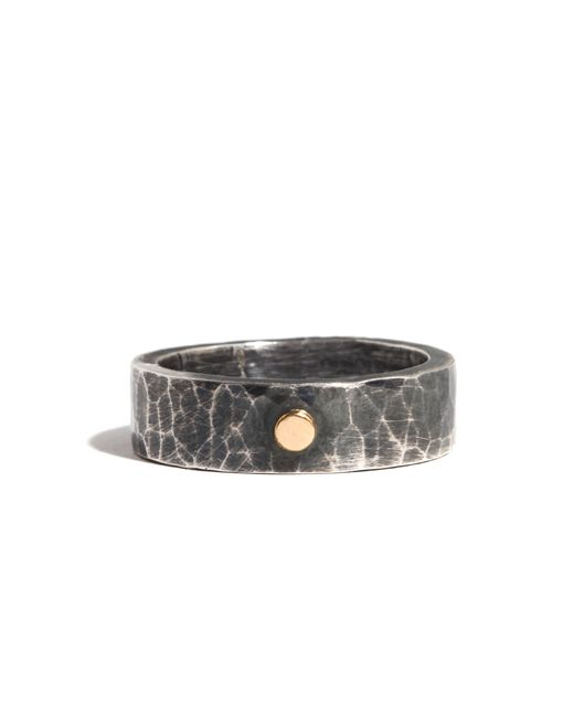 Melissa Joy Manning | Metallic Silver Ring With Gold Dot Accent | Lyst