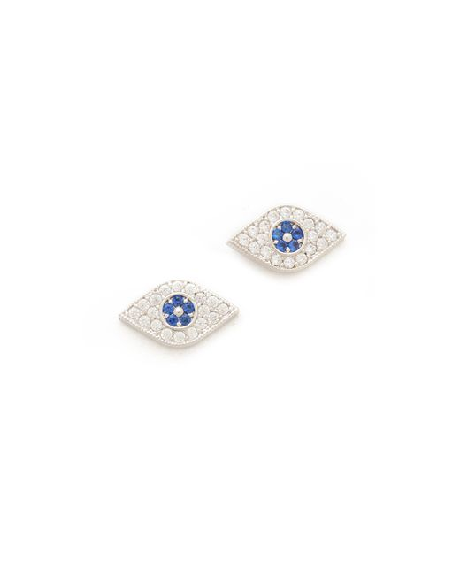 Tai | Blue Evil Eye Stud Earrings | Lyst