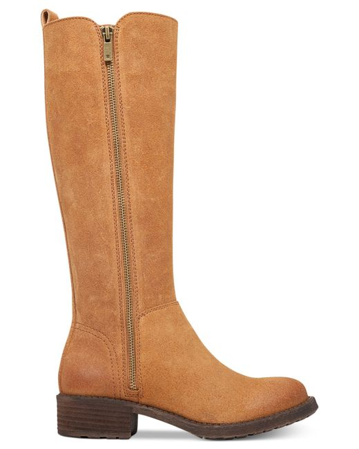 lucky brand womens desdie boots in brown aztec