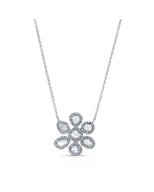 Anne Sisteron | Metallic 14kt White Gold Mae Large Diamond Slice Necklace | Lyst