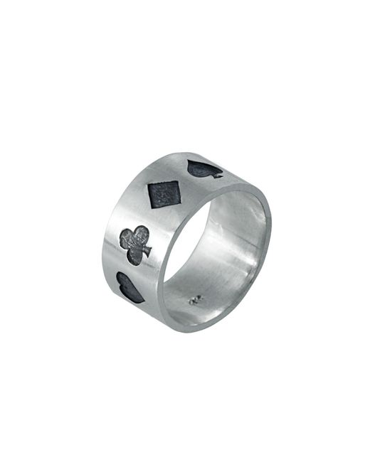 Edge Only | Metallic Poker Ring Oxidised Silver for Men | Lyst