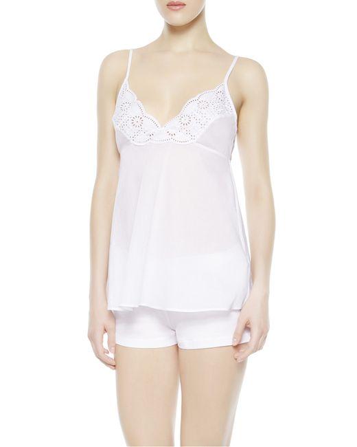 La Perla   White Cami Top And Shorts Pajama Set   Lyst
