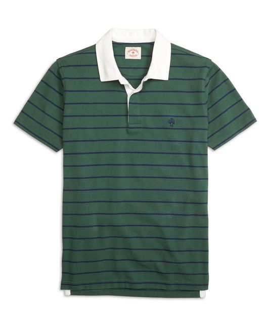 Brooks Brothers | Green Rugby Stripe Polo Shirt for Men | Lyst
