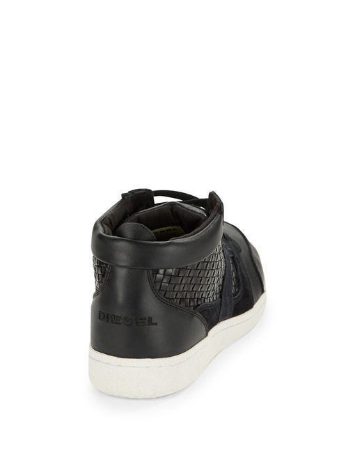 DIESEL | Black Amnesia Resolution Sneakers for Men | Lyst