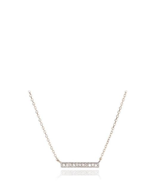 Adina Reyter | Yellow Pave Bar Necklace | Lyst