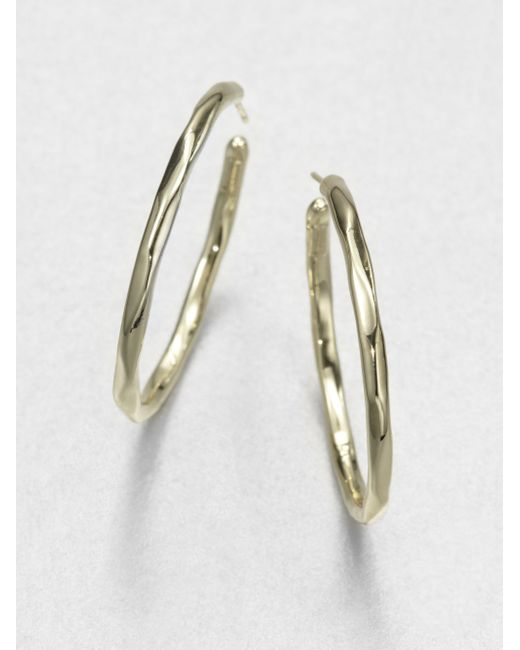 Ippolita | Metallic Glamazon 18k Yellow Gold #3 Hoop Earrings/1.65 | Lyst