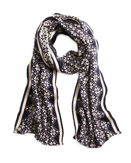 Brooks Brothers | Blue Fair Isle Scarf for Men | Lyst