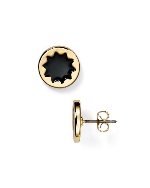 House of Harlow 1960 | Black Enamel Sunburst Stud Earrings | Lyst