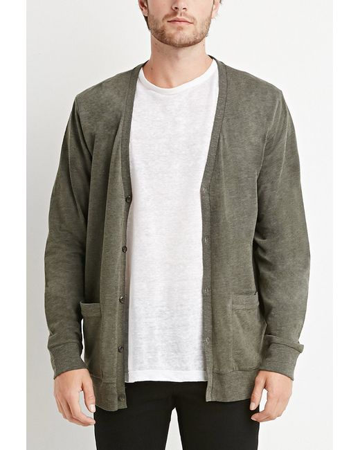 Forever 21 | Natural Classic Two-pocket Cardigan for Men | Lyst