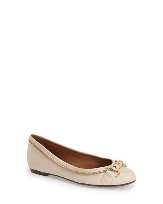 French Sole | White Padre Zip Ballet Flats | Lyst