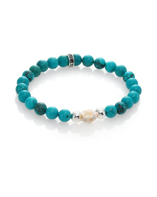 King Baby Studio | Blue Turquoise Bead Bracelet | Lyst