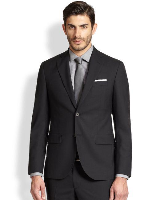 Saks Fifth Avenue | Black Modern-fit Wool Sportcoat for Men | Lyst