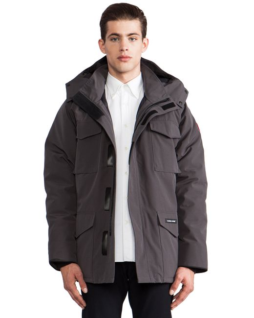 Canada Goose down outlet official - Canada goose Constable Parka in Gray for Men (Graphite)   Lyst