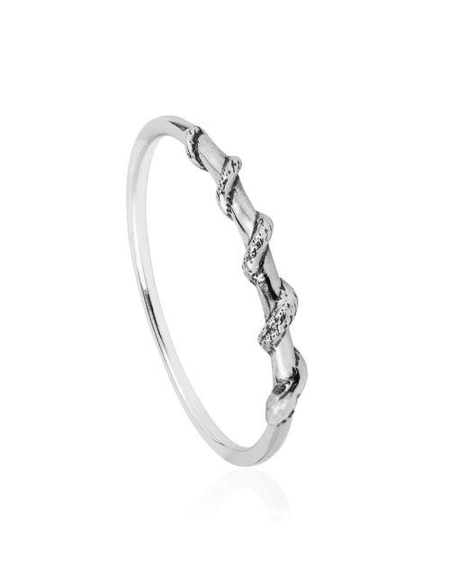 Lee Renee | Metallic Tiny Snake Ring Silver | Lyst