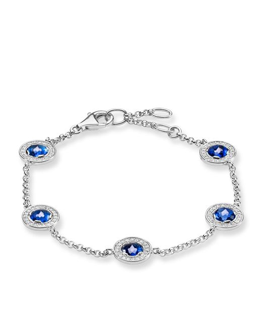 Thomas Sabo | Light Of Luna Blue Corundum Bracelet | Lyst