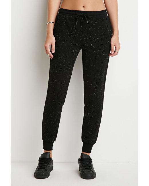 Forever 21 | Black Classic Heathered Joggers | Lyst