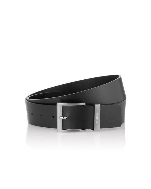 HUGO | Black Leather Belt With Metal Belt Loop: 'c-bud' for Men | Lyst
