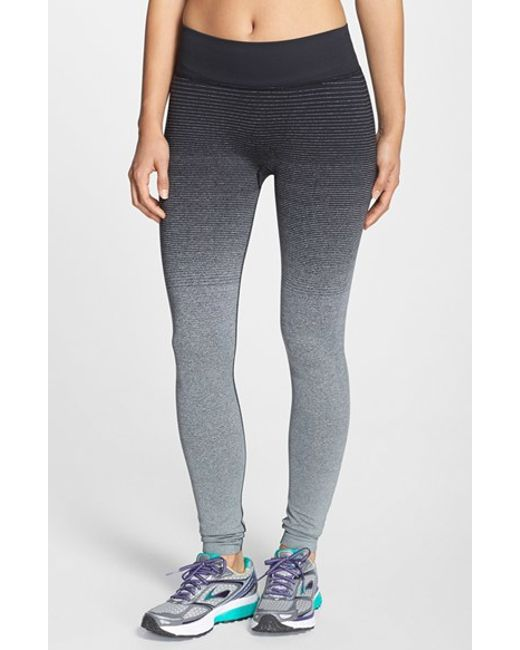 Brooks | Gray 'streaker' Ombre Running Tights | Lyst