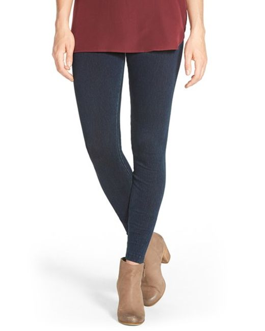 Lyssé | Blue Denim Leggings | Lyst