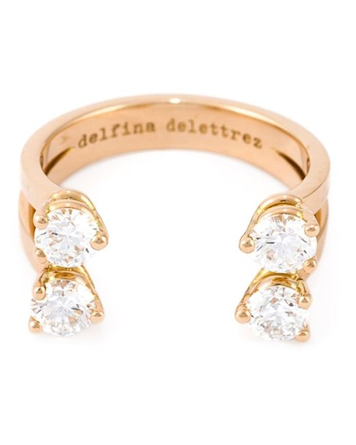 Delfina Delettrez   Metallic 'dots' Diamond Ring   Lyst