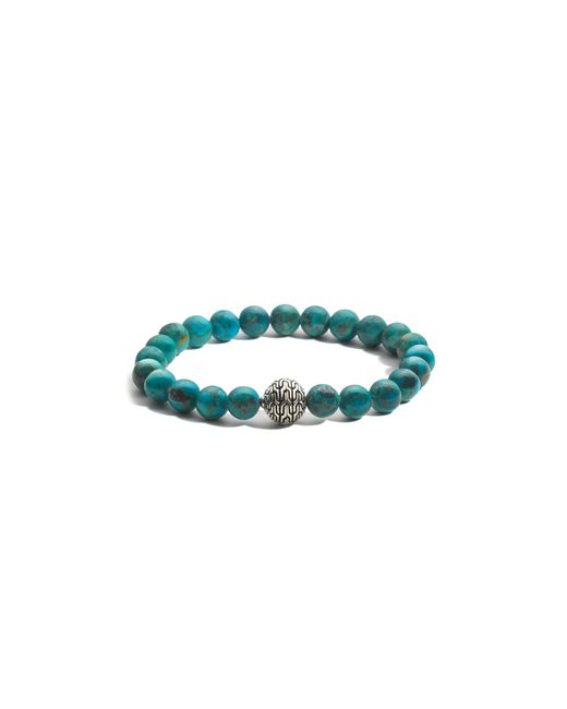 John Hardy | Blue Batu Classic Chain Sterling Silver Large Beaded Bracelet With Turquoise | Lyst