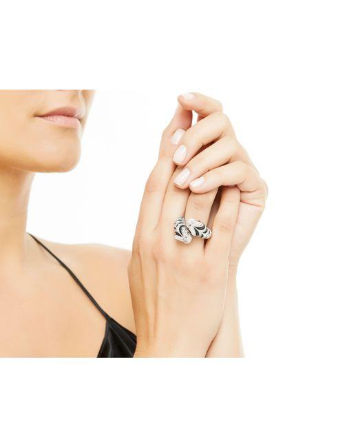 John Hardy   Metallic Macan Double Head Bypass Ring With Diamonds   Lyst