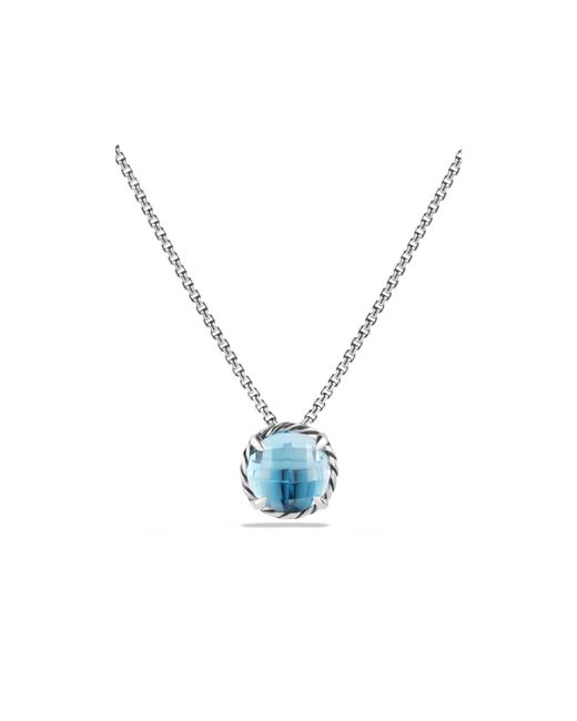 david yurman ch226telaine pendant necklace with blue topaz