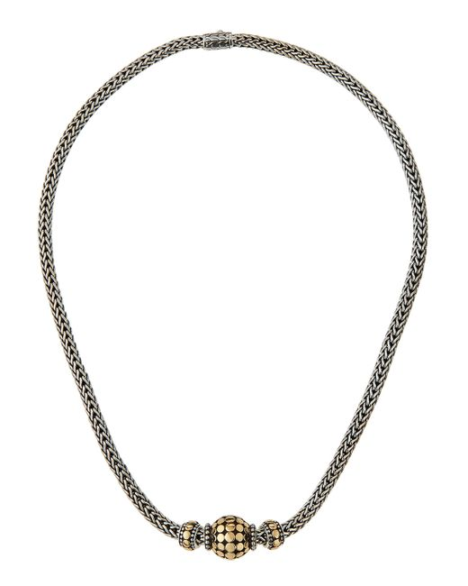 John Hardy | Blue Three-bead Dot Chain Necklace | Lyst