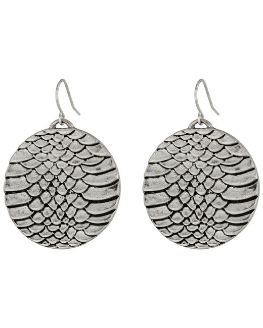 Sam Edelman | Metallic Snakeskin Snake Disc Drop Earrings | Lyst