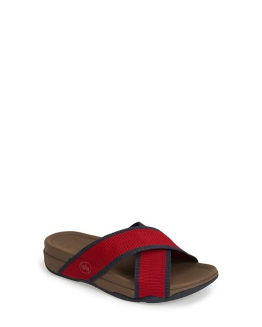 Fitflop | Red (tm) 'surfer' Slide Sandal for Men | Lyst