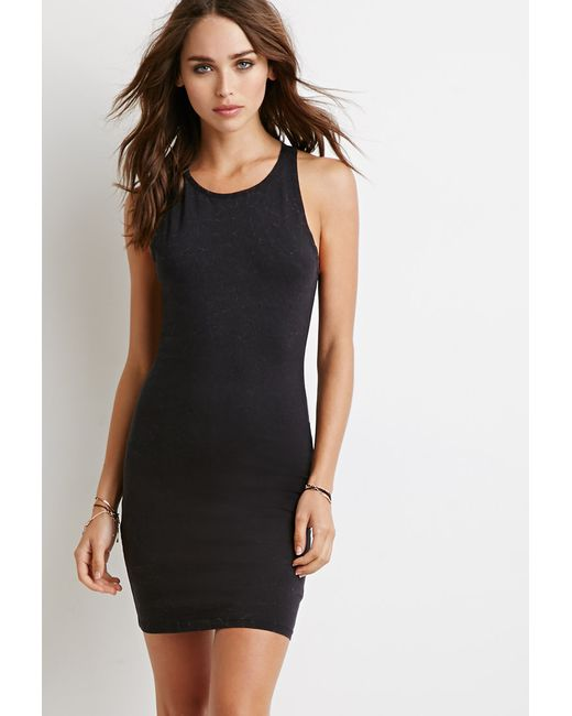 Forever 21 | Black Racerback Bodycon Dress You've Been Added To The Waitlist | Lyst