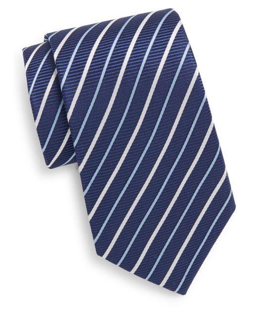 Saint Laurent   Blue Striped Silk Tie for Men   Lyst