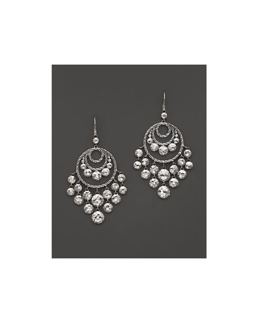 John Hardy | Metallic Women's Palu Silver Disc Chandelier Earrings | Lyst