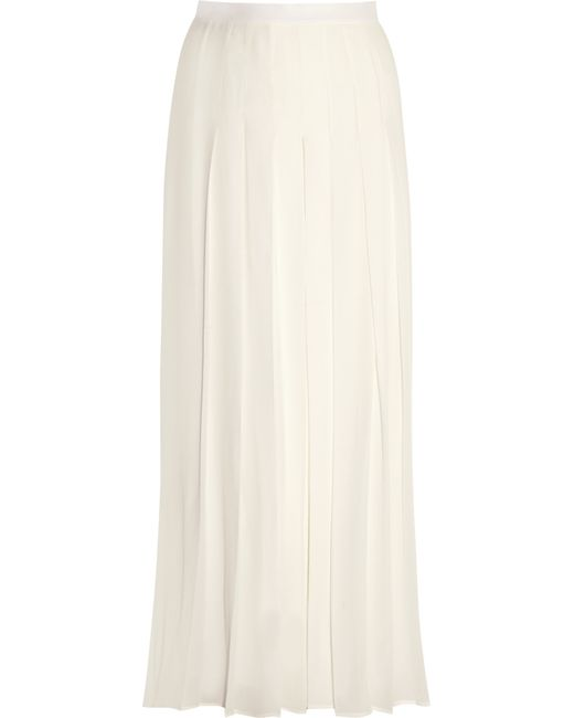 Givenchy | White Pleated Culottes In Ivory Silk Crepe De Chine | Lyst