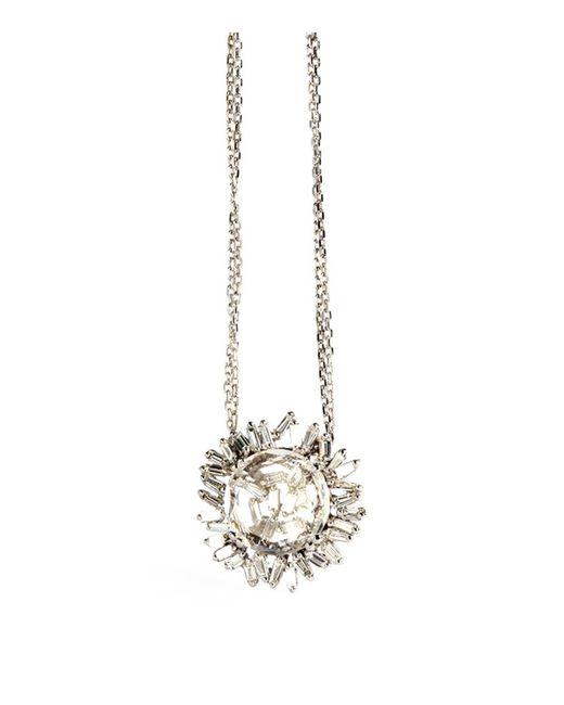 Suzanne Kalan | Diamond And White Topaz Vitrine Pendant | Lyst