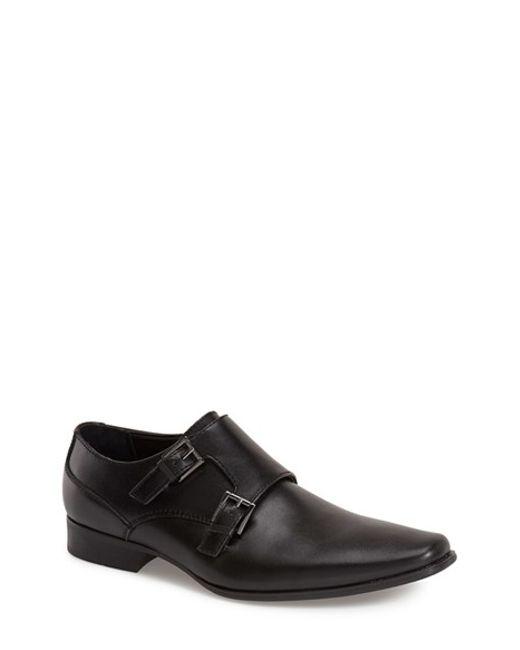 Calvin Klein | Black 'bayard' Double Monk Strap Shoe for Men | Lyst
