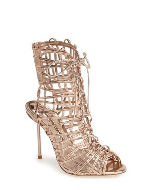 Sophia Webster | Pink Delphine Metallic Leather Sandals | Lyst