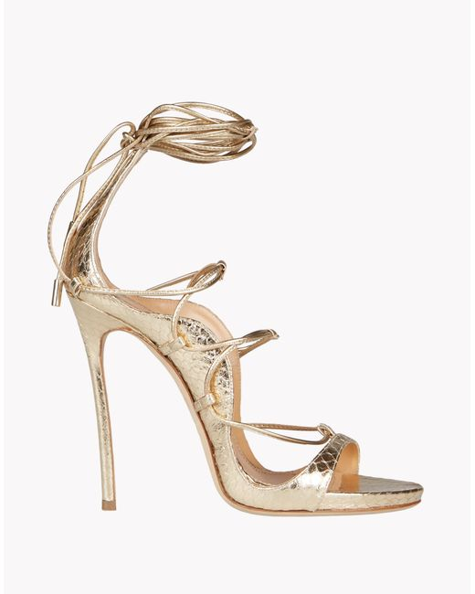 DSquared² | Metallic Riri Sandals | Lyst
