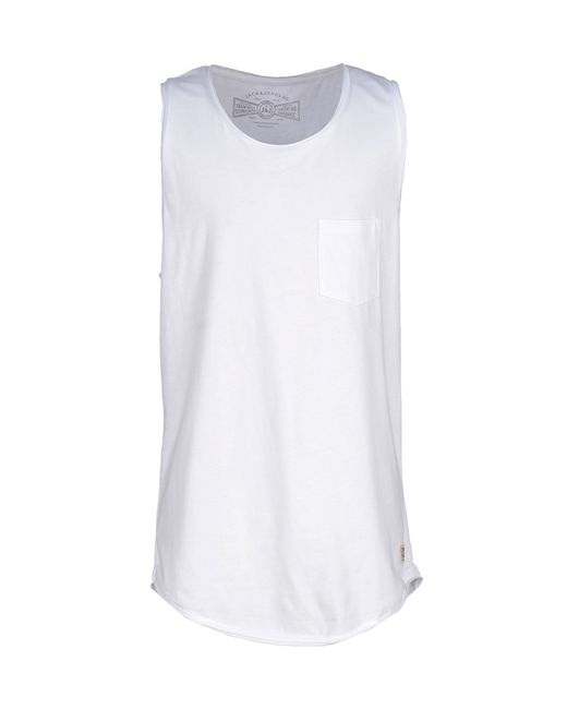 originals by jack jones tank top in white for men lyst. Black Bedroom Furniture Sets. Home Design Ideas