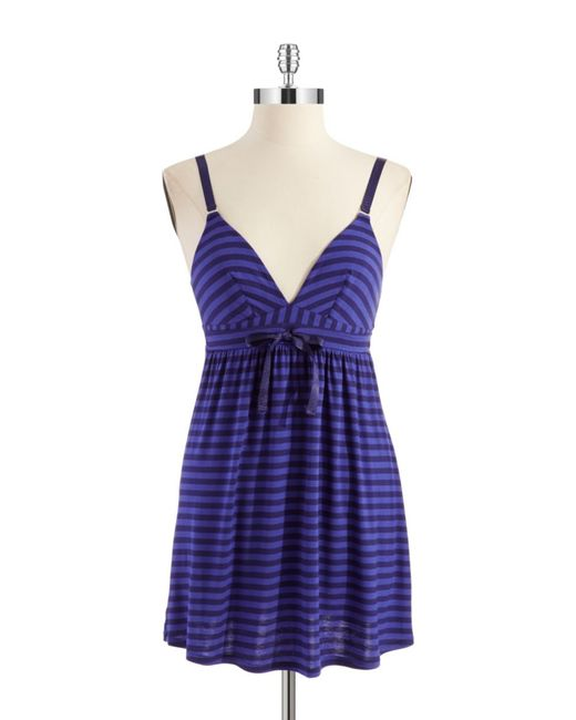 Splendid | Blue Metallic Striped Chemise | Lyst