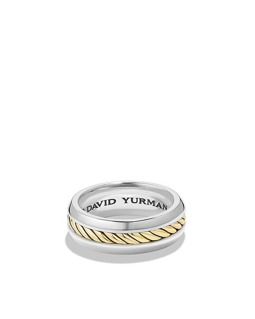 David Yurman | Metallic Cable Classic Ring With 18k Gold for Men | Lyst