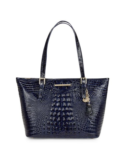 Brahmin | Blue Asher Embossed Leather Tote | Lyst
