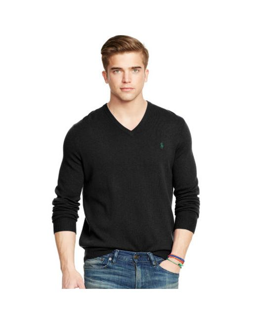 Polo Ralph Lauren   Black Wool V-neck Sweater for Men   Lyst