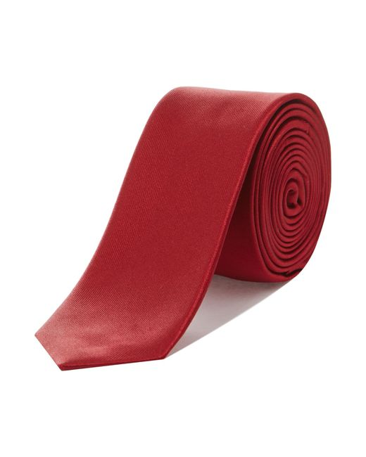 Kenneth Cole | Red Solid Satin Silk Tie for Men | Lyst