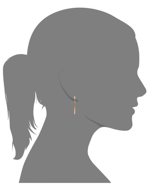 Macy's | Metallic 14k Rose Gold Earrings, Large Hoop | Lyst
